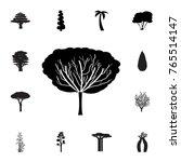 apple tree icon. set of... | Shutterstock .eps vector #765514147