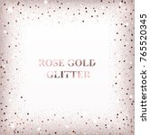 Stock vector rose gold glitter background card with square confetti for holidays 765520345