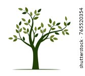 shape of green tree with leaves.... | Shutterstock .eps vector #765520354