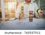 construction engineering.... | Shutterstock . vector #765537511