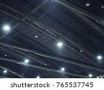high curve black steel ceiling...