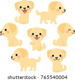 cute labrador retriever... | Shutterstock .eps vector #765540004