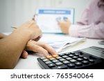 businessman working use present ... | Shutterstock . vector #765540064