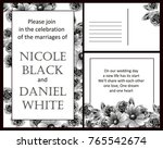 romantic invitation. wedding ...   Shutterstock .eps vector #765542674