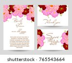 romantic invitation. wedding ... | Shutterstock . vector #765543664