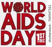 poster with hiv virus design ...   Shutterstock .eps vector #765547321