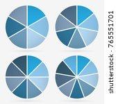 info template pie charts blue... | Shutterstock .eps vector #765551701