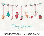 merry christmas and happy new... | Shutterstock .eps vector #765555679