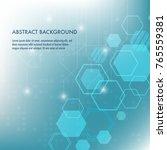minimal design  the hexagonal... | Shutterstock .eps vector #765559381