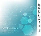 minimal design  the hexagonal...   Shutterstock .eps vector #765559387
