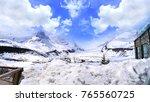 beautiful snowy of columbia...   Shutterstock . vector #765560725