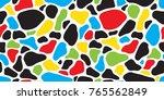 rock camouflage cow animal skin ... | Shutterstock .eps vector #765562849