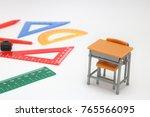 school supplies used in math... | Shutterstock . vector #765566095