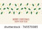 christmas vector background.... | Shutterstock .eps vector #765570385