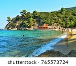 greece view of the robinson... | Shutterstock . vector #765573724