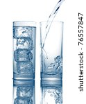 pouring of fresh cool water in... | Shutterstock . vector #76557847