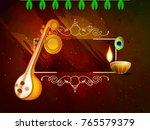 indian festival vasant panchami ... | Shutterstock .eps vector #765579379