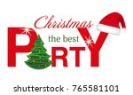 christmas party header with... | Shutterstock .eps vector #765581101