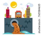 environment pollution. ecology. ... | Shutterstock .eps vector #765584635