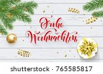 frohe weihnachten german merry... | Shutterstock .eps vector #765585817