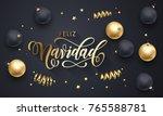 feliz navidad spanish merry... | Shutterstock .eps vector #765588781