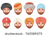 fashion turban headdress arab... | Shutterstock .eps vector #765589375