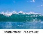sea water background. big blue... | Shutterstock . vector #765596689