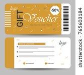 creative discount voucher  gift ...   Shutterstock .eps vector #765603184