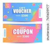 creative discount voucher  gift ... | Shutterstock .eps vector #765605977