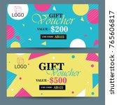 creative discount voucher  gift ... | Shutterstock .eps vector #765606817