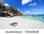beautiful takamaka beach on... | Shutterstock . vector #76560838