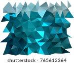 dark blue vector low poly... | Shutterstock .eps vector #765612364