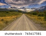 Unpaved Colorado County Road 9...