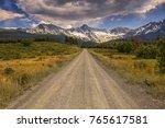 Unpaved Colorado County Road 9...