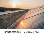 wind power and solar power... | Shutterstock . vector #765626761