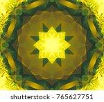 geometric kaleidoscope dark...   Shutterstock . vector #765627751