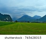 austrian alps view on the... | Shutterstock . vector #765628315