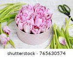 florist at work. how to make... | Shutterstock . vector #765630574