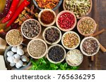 variety of different asian and... | Shutterstock . vector #765636295