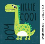 dinosaur drawing as vector for... | Shutterstock .eps vector #765639415