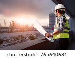 engineer consult people holding ...   Shutterstock . vector #765640681