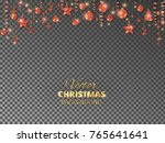 holiday background with... | Shutterstock .eps vector #765641641