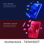 a set of 3d illustration of the ... | Shutterstock .eps vector #765643657