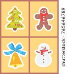 christmas symbols set of icons... | Shutterstock .eps vector #765646789