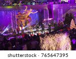 Small photo of New York, NY - November 29, 2017: Matt Sallee, Kirstin Moldanado, Scott Hoying, Mitch Grassi, Kevin Olusola of the group Pentatonix performs during the 85th Rockefeller Center Christmas Tree Lighting