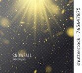 vector realistic snowfall...   Shutterstock .eps vector #765647875