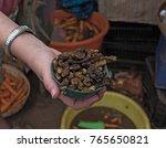 small bowl of roasted mopane... | Shutterstock . vector #765650821