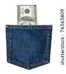 Hundred Dollar Bills In Jeans...