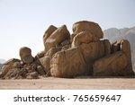 Closeup Desert Boulders