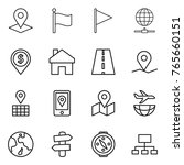 thin line icon set   pointer ... | Shutterstock .eps vector #765660151